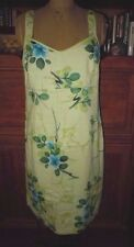 COLUMBIA DARLING PALE LIME GREEN PRINT COTTON SUN AND FUN DRESS, L, FLAWLESS