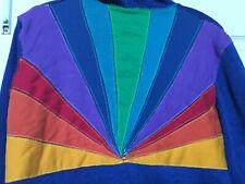 Aviator Nation Sunburst Zip Front Hoodie Blue M    Rare