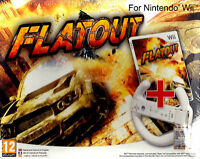 Nintendo Wii Bundle pack «FLATOUT + VOLANTE / WHEEL» nuovo import Pal