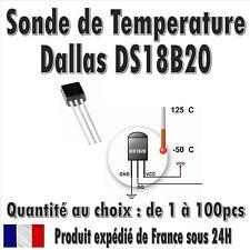 Dallas DS18B20 / 1-Wire Digital Thermometer TO-92 / Quantité de 1 à 100pcs