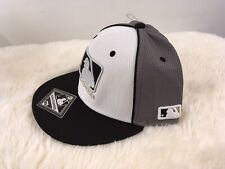 MLB Elite Series Hat Grey White Black Embroidered Logo Q3 OC Sports Breathable