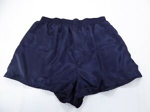 Navy Blue  Satin Boxers in  X /  Large