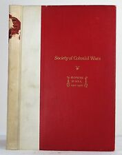 SOCIETY OF COLONIAL WARS HONOR ROLL SERVICES OF MEMBERS GENEALOGY WORLD WAR II