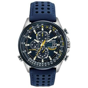 Citizen Eco-Drive Men's Blue Angels Chronograph World Time 43mm Watch AT8020-03L