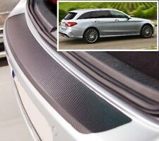 Mercedes C-Class W205 Estate - Carbon Style rear Bumper Protector