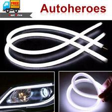 45CM Dual Flexible Soft Guide Car LED Strip White DRL Running Turn Signal Light