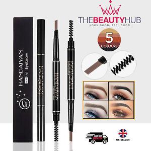 Eyebrow PENCIL & BRUSH - Stereo Fine Brow Definition Shaper - Waterproof Liner