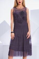 Day Birger Mikkelsen Tulle Dress 3 Designer Grey Midi Tull Party Sleeveless  38