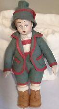 "Vintage Italian Lenci type 8"" Cloth Doll"