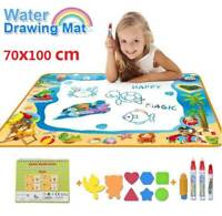 70*100cm Children Kids Aqua Doodle Water Painting Drawing Mat Board+ Magic Pen