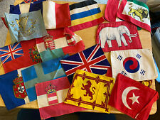 Lot of 20 Vintage Tobacco Cigar World Flags