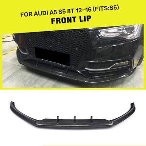 Carbon Fiber Front Lip Bumper Spoiler Body Kits Fit for Audi S5 2012-2016