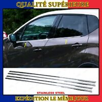 Renault Captur Chrome Châssis de Fenêtre Bordure Garniture 4pcs INOXYDABLE 2013+