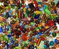 100 g Indische Glasperlen Mixform Bunte Lampwork Schmuck Konvolut MIX20