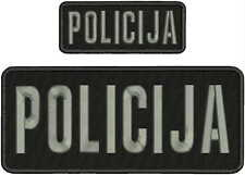 POLICIJAvez zakrpe 4x10 i 2x5 kuku na leđa BLK / GRAY