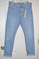 Levi's 501 Boyfriend Skinny Selvedge White Oak Denim Jeans $168 Rock n Blues 29