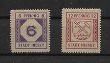 SBZ Lokalausgaben 1945 Niesky, Mi. 1, 2, postfr., gepr.