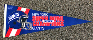 1987 New York Giants Super Bowl XXI Champions Pennant