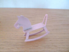 Doll House  Painted Pink Metal  Baby Rocking Horse