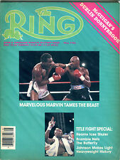 The Ring Boxing Magazine May 1986 Marvin Hagler EX 060616jhe