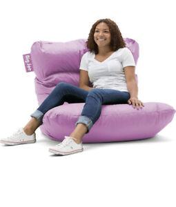 Big Joe Roma Bean Bag Chair, Purple gaming, dorm, comfy
