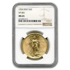 1924 $20 St. Gaudens Gold Double Eagle MS-65 NGC (DDO, VP-001) - SKU#153726