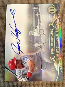 2014 Topps Tribute Traditions Ivan Rodriguez Auto 79/99