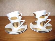 PHILIPPE DESHOULIERES *NEW* HAUSSMAN OR 7050 Set 4 Tasses à café avec soucoupes
