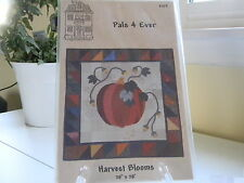 Harvest Blooms by Pals 4 Ever, Pumpkins, Vines Pieced and Appliqued.