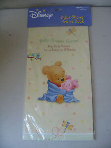 Disney Winnie the Pooh and Pigglet Baby Shower Game Book for 8 guests 21121