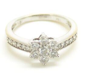 Fabulous 18ct White Gold Diamond Flower Cluster Ring