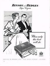 PUBLICITE ADVERTISING 024   1958   BENSON & HEDGES    cigarettes