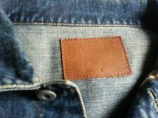 one true saxon denim jacket vintage large