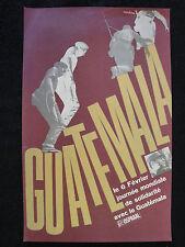 OSPAAAL CUBAN Political Poster Journee de Solidarite Avec Le Guatemala 1967 Art