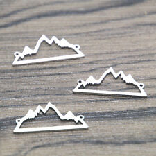 5pcs mountain Charms silver tone horse mountain charm pendant connectors 24x11mm