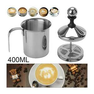 Manual Handheld Milk Frother Foamer Coffee Latte Hot Chocolate Milk Blender UK
