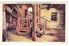 INTERIOR VIEW OF OLD MILL--LAKEWOOD--LITTLE ROCK ARKANSAS--POSTCARD