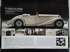 1933 Delage Roadster - 4 Page Article - Free Shipping