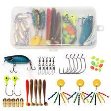 Fishing Tackle Kit 36Pcs Accessories Crankbait Swivels Snaps Hooks Sinkers Beads