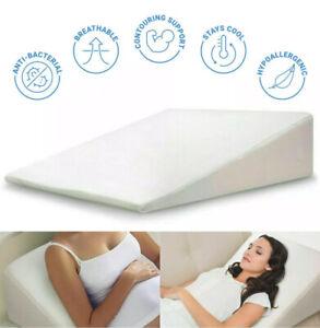 Orthologics LARGE Beds Wedge Raised Pillow Acid Reflux GERD Memory Foam Back New
