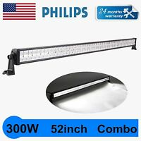 PHILIPS 52Inch 300W LED Light Bar Flood Spot Combo Driving Suv Boat 4WD VS 50/54