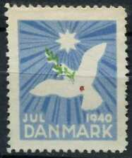 Denmark 1940 Christmas, Seal, Charity Label Unused No Gum #D91144