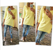 New Fashion Women Ladies Long Sleeve Casual Loose Shirt Tops Blouse T-Shirt