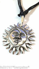 Colgante Collar Con Cable Sun Moon cara celeste Bohemio étnico