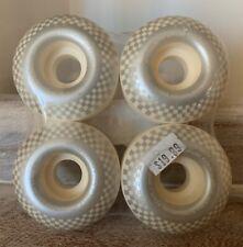 Speed Demons White Retro Checkered Skateboard Wheels 4 Pack New!