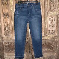NWOT White House Black Market Women's Size 8 Slim Crop Jeans Dark Wash