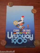 Original vintage poster Uruguay Football soccer 1980 World Cup COPA DE ORO VF+++