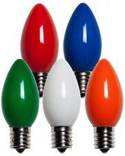 75 C9 Multicolor Opaque/Solid Color Bulbs Indoor/Outdoor Christmas Bulbs