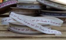 EAST OF INDIA vintage word ribbon - Do Not Open Until 25th December 3116 EOI