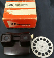 Sawyer's View-Master Model E + Box + HOLLAND REEL . BROWN BAKELITE - VINTAGE